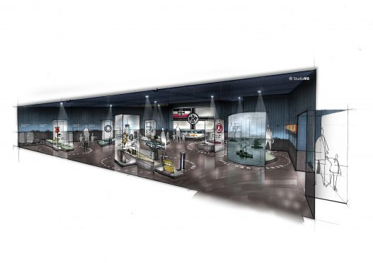 An artist's impression of the proposed new extension which will be built at the Scapa Flow Visitor Centre and Museum.