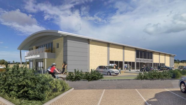 The proposed Grampian Furnishers showroom