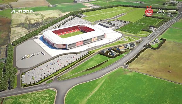 The proposed Dons stadium at Kingsford - Aberdeen Football Club