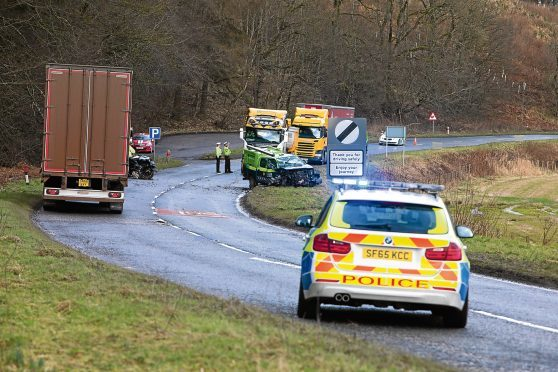 The scene of a serious crash on the A947 earlier this year