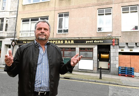 Bob Baxter, the director of Coopers Bar