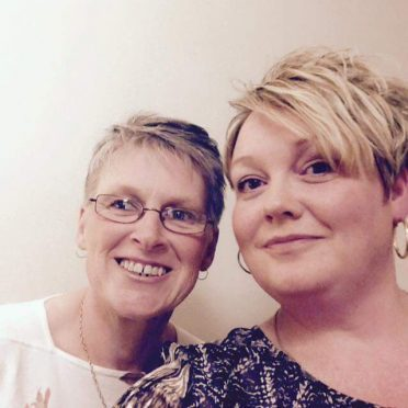 Tracey Hoy, pictured left, was close friends with Angela Spalding.