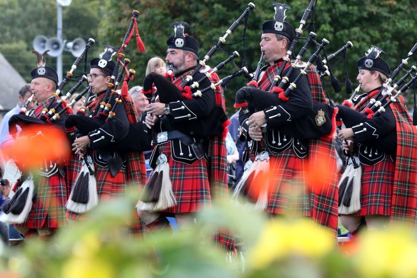 Royal British Legion pipes and drums
