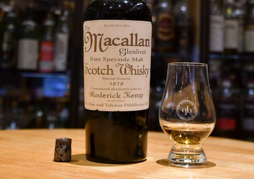 The rare 1878 Macallan was bought at a Swiss hotel - but was later proved to be fake.