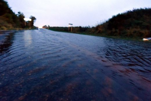 Flooding on the A90 closed the road overnight, 4 miles south of Fraserburgh.