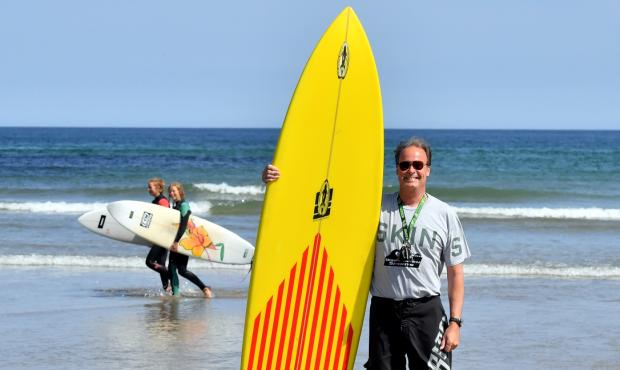 Davie Johnson at Surf'Sup
