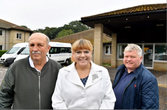 Dialysis patients Angus Simpson, Lindsey Wood and Colin Lawson. (Picture: Kami Thomson)