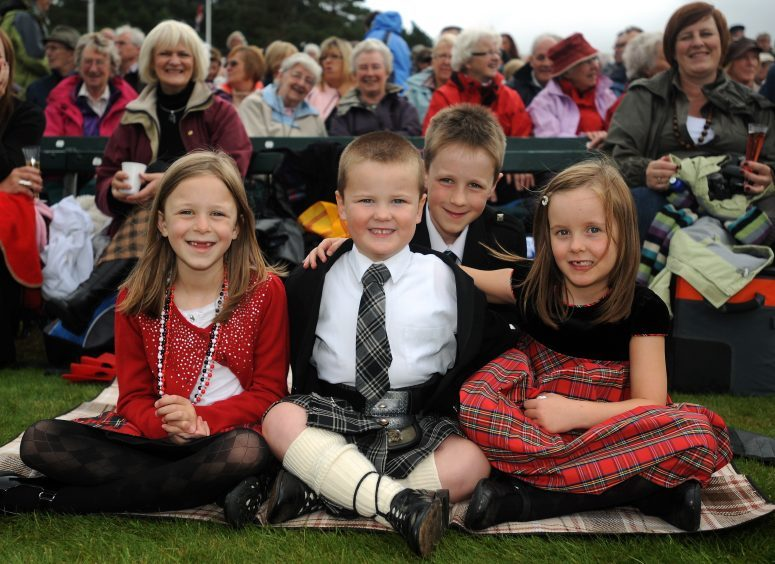 Pictured L-R are: Moly Clark, Brodie Forsyth, Matthew Clark and Ailie Forsyth at the 2009 Gathering.