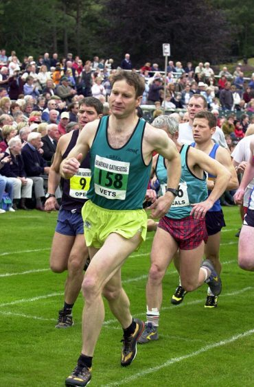 Competitors get underway in the hill race in 2005