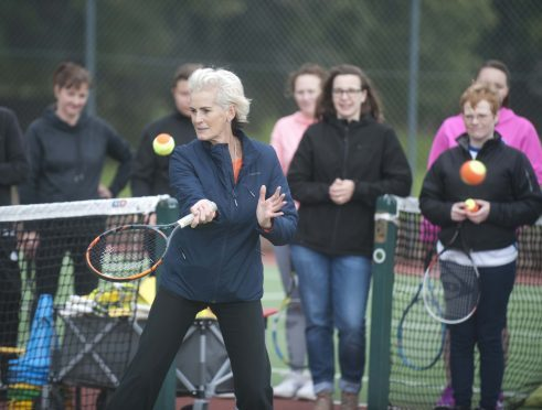 Judy Murray at Rothes Tennis Club