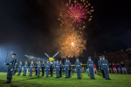 A spectacular fireworks display brought the Highland Military Tattoo at Fort George to a close.