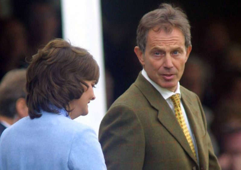 Tony and Cherie Blair after the games in 2003