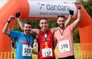 Dandara 5K and Family Fun Day at Hazlehead Park.  Pictured from left, David Jamieson, 2nd over the line, Myles Edwards, 1st over the line and Andy Reid, 3rd over the line.