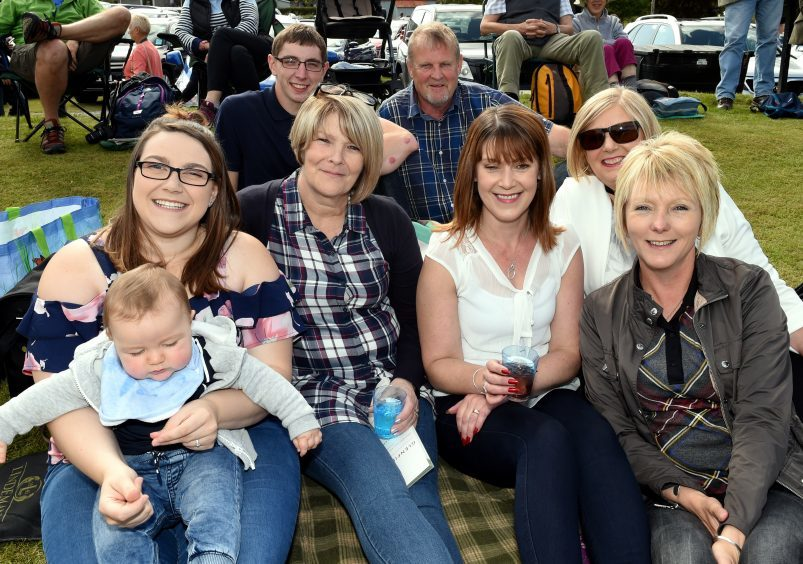 From left: Steven Cruickshank and Lewis Baird. Alana Paton, Lewis Cruickshank, Caroline Florence, Susan Paton, Paula Baird and Susan Cooper.