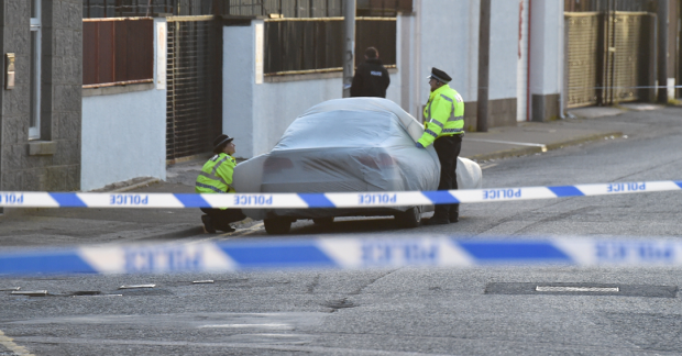 Police sealed off an area of Sinclair Road after the incident on Monday.