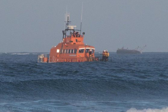 Lifeboats in action
