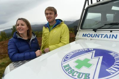 The Aviemore-based couple joined Cairngorm MRT at the weekend. Picture by Sandy McCook.
