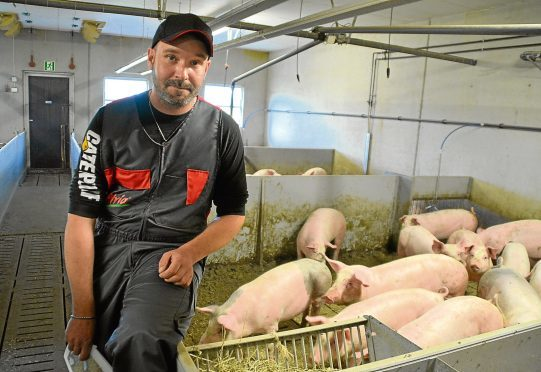 Finnish pig farmer Mika Vuorinen.