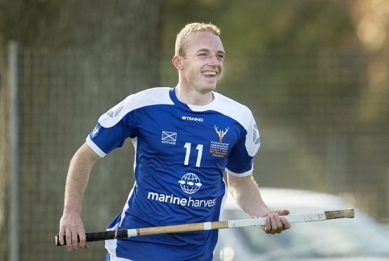 Scotland's Kevin Bartlett after scoring a 3 point goal.