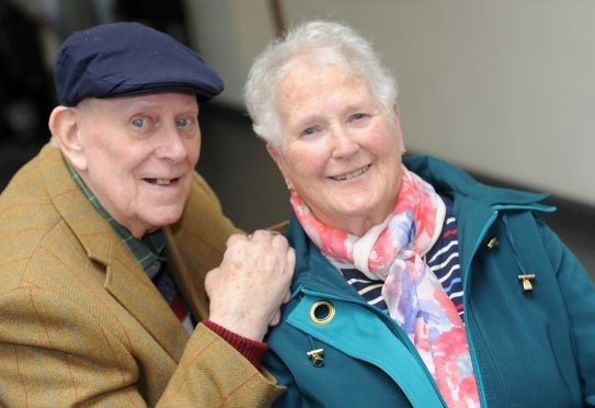 Long time Mod attendees Donald and Christine MacKinnon of Edinburgh but originally from Bannffshire and Islay.