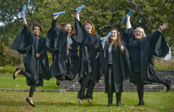 Fom the left: Emma Hay, Ashleigh Cameron, Hannah Joslin-Smith, Sannon Grant and  Amanda Mackenzie.