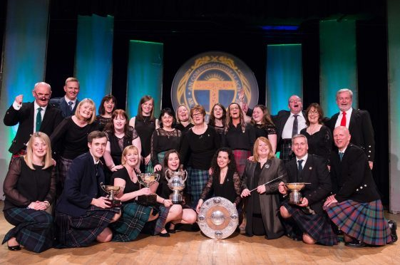 The choir from Back on Lewis were awarded the Lorn Shield after sparkling Mod performances.