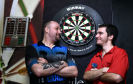 "Dave ""The Magpie"" Matthew (left) and Lewis ""The Hitman"" Grant are hoping to break the Guinness world Record for longest darts marathon playing singles"