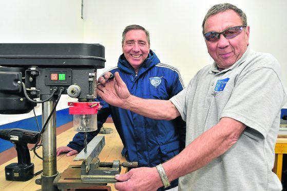 Jim McInally launched the shed last month.
