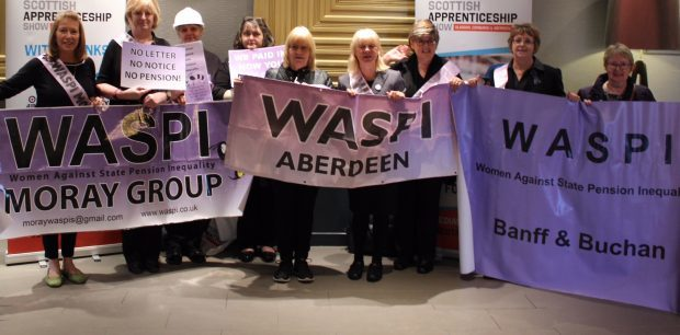 Waspi campaigners in Aberdeen.