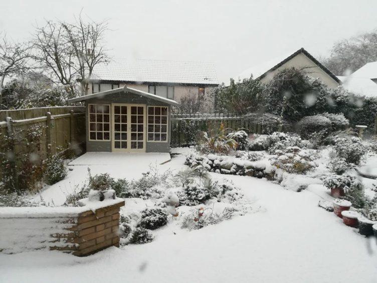 Snow in Stonehaven by Carol Bradley