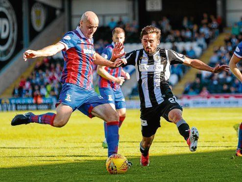 Inverness defender David Raven was dismissed