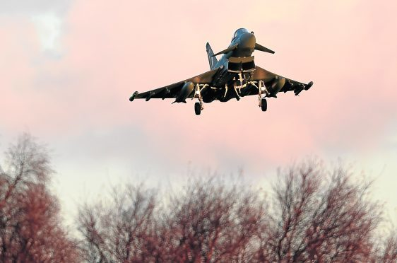 A Typhoon was involved in the near-miss