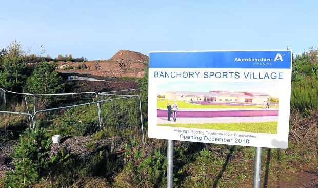 Locator of the Banchory Sports Village site.
