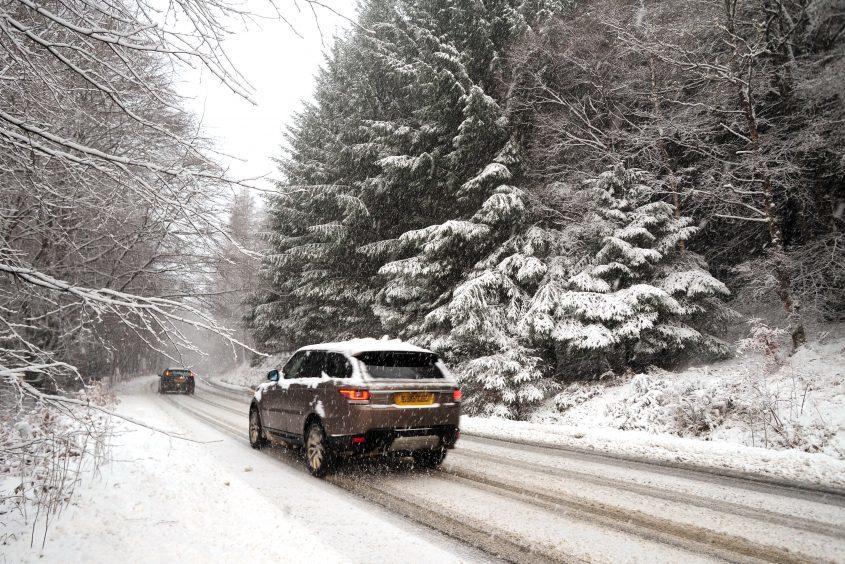Snow is expected across Scotland on Wednesday.