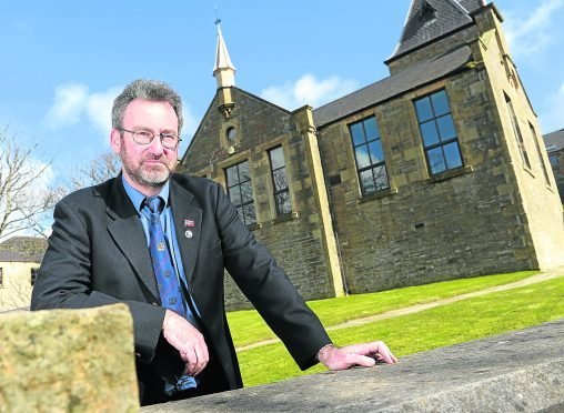 Picture by SANDY Steven Heddle, Convener of Orkney Islands Council outside the council's headquarters in Kirkwall, Orkney