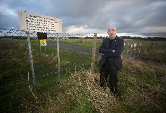 Moray Council planners have backed the development at Milltown Airfield. Pictured: Fochabers Lhanbryde councillor Marc Macrae.