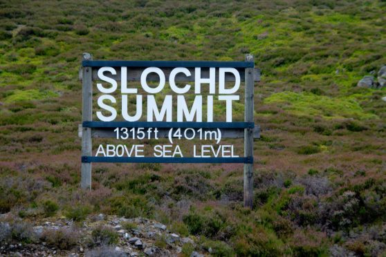 The Slochd Summit is the second highest point on the A9 route
