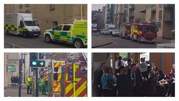 The scene in Edinburgh