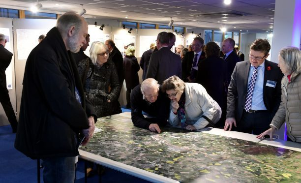 A public exhibition on the A96 Dualling East of Huntly to Aberdeen was held in Inverurie's Heritage Centre. Picture by Colin Rennie