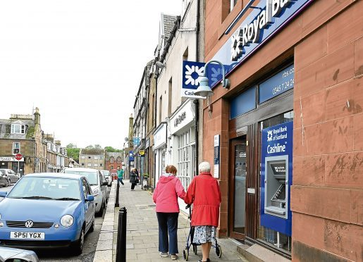 Locator of the The Royal Bank of Scotland, the Square, Stonehaven.