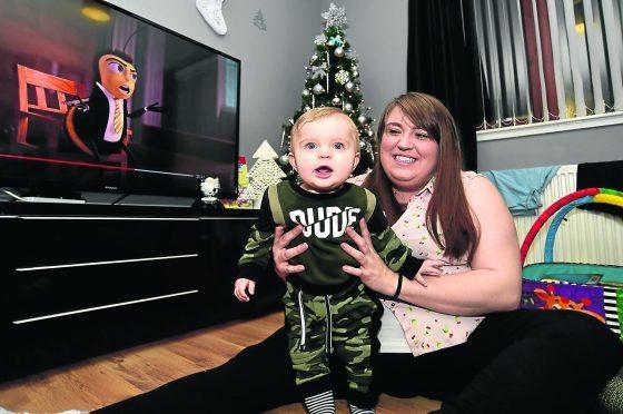 Gemma Chalmers with son Jaxson
