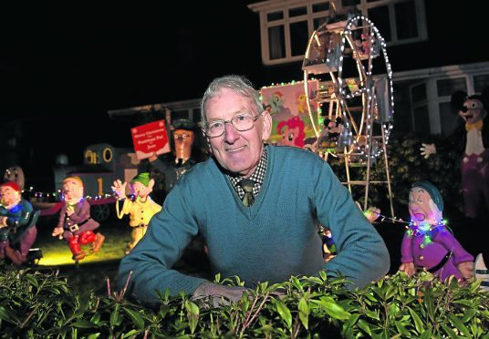 Eddie Stevenson's Christmas display in his garden