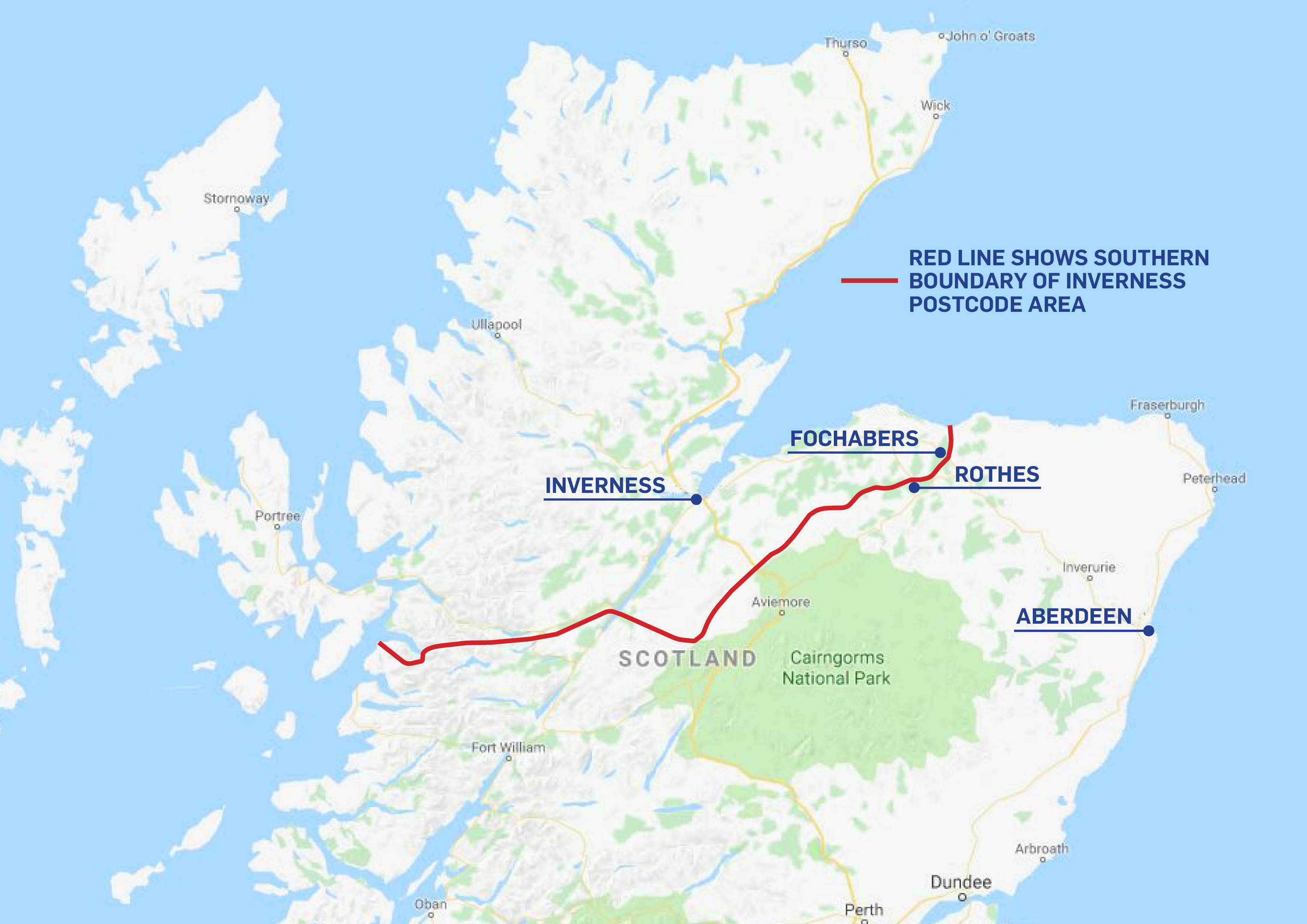 Lochaber Scotland Map.Map Shows Bizarre Delivery Boundary Which Divides Neighbours