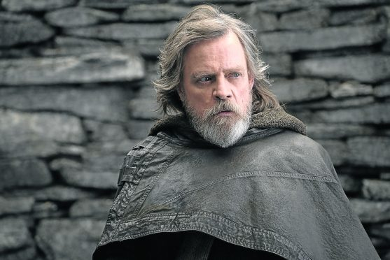 Mark Hamill  as Luke Skywalker.