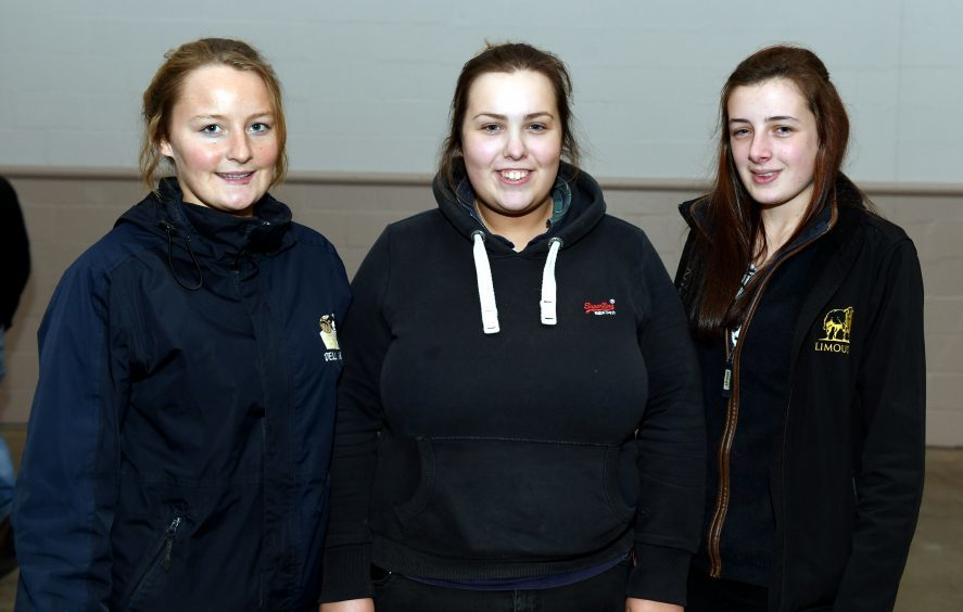 Iona Macpherson, Anna Merchant, Keely Mitchell.