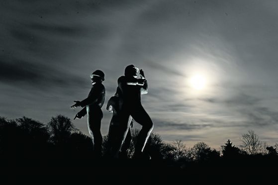 The Piper Alpha Memorial at Hazlehead Park.