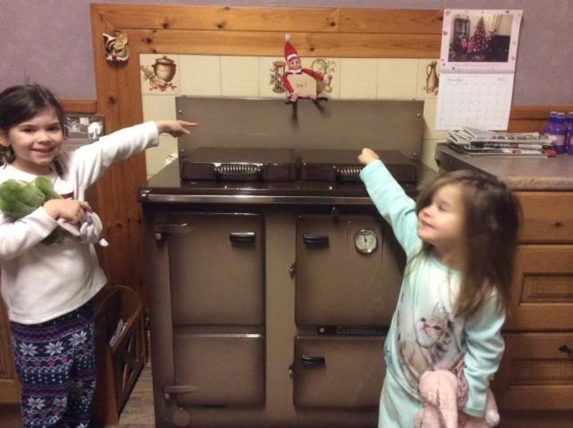 Ellie Mai and Eva Found ELF at Granny and Granda 's house.
