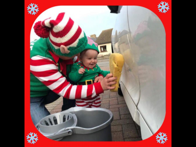 Meet real life elf on the shelf Mariann and nine-month-old Evie. Picture sent in by Claire Slater.