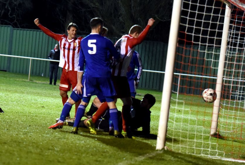 Formartine score their second goal.