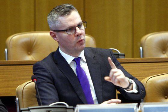Derek MacKay MSP  (Pictured) at Aberdeen Council Chambers in Aberdeen Town House
